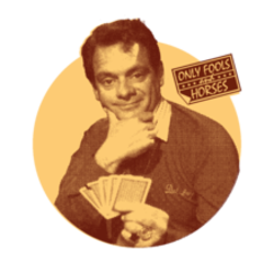 Del Boy Playing Cards