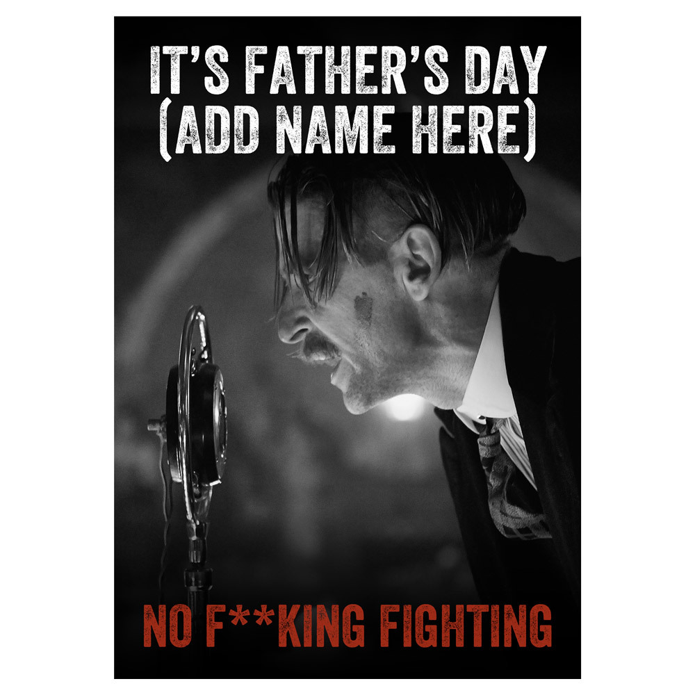 Product Image of No Fighting Father's Day Card